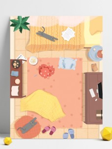 彩绘温馨家居背景设计