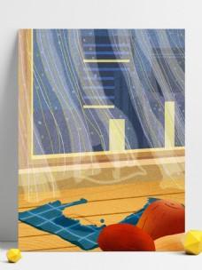 彩绘腊八主题窗户背景设计