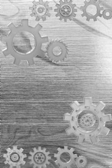 简单大气金属感齿轮背景