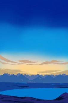 夜晚天空蓝色背景下载