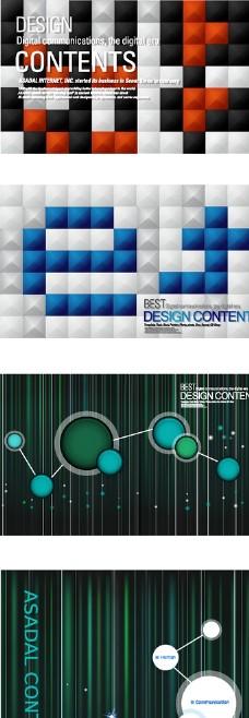 现代电子商务网络图标插画设计