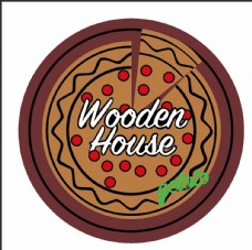 wooden house 披萨