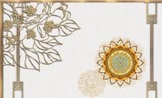 新中式现代花纹样式背景墙