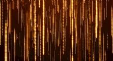 华丽金色粒子流光背景