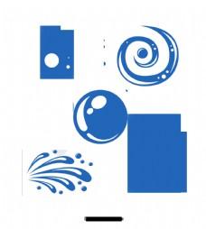 简单水滴设计元素