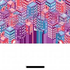 卡通手绘城市建筑设计