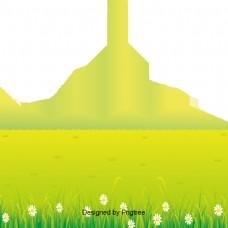 简单的自然景观元素设计