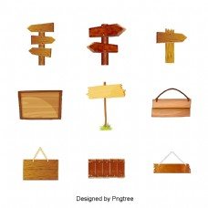 各种木质路标标志牌材料