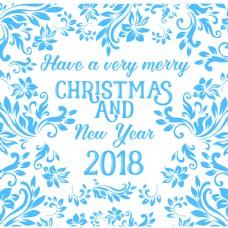贺卡祝年圣诞和新年快乐