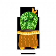 卡通手绘简单花盆花卉设计