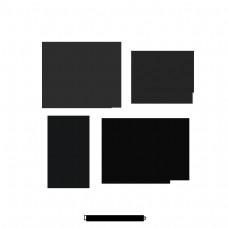 漂亮卡通可爱手绘箭头方向指示标签