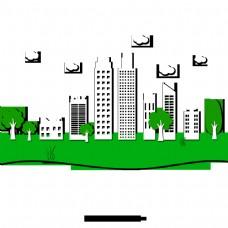 绿色城市高层建筑创意设计材料