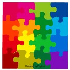 彩色几何图形图案