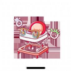 可爱的儿童步行玩具创意材料设计