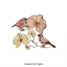 简单的天然植物元素设计