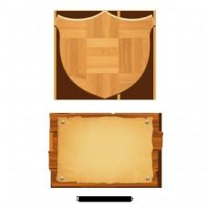 简单的卡通木料设计