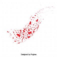 简单的手绘鸟折纸设计