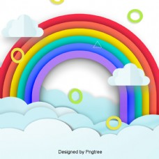 简单自然卡通彩虹