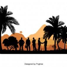 创意背像人物景观材料设计