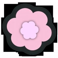 美丽的镂空三维剪纸花
