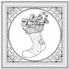 黑色矢量单色插图圣诞快乐新年快乐