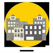 卡通城市矢量式建筑设计