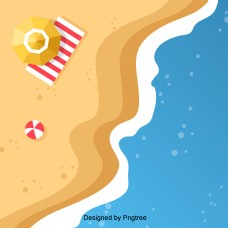 卡通手绘沙滩设计