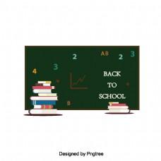 卡通校园黑板文具设计