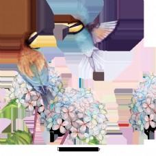 简单的手绘花鸟材料