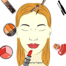 美丽卡通可爱美容化妆护肤