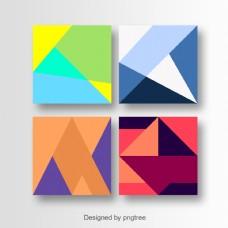 多彩几何卡艺术设计