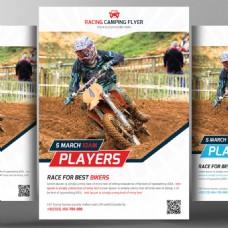 自行车赛车宣传单模板