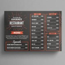 餐厅菜单传单