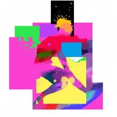 奔跑运动人物剪影