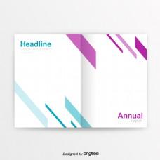 紫色蓝色简洁的商业图书