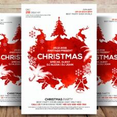 圣诞节宣传单模板