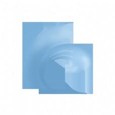 涌起水面的蓝色浪花