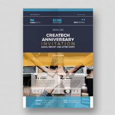 企业周年纪念传单模板