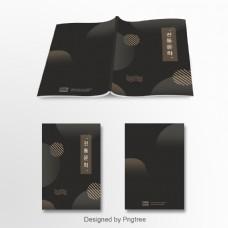 韩国传统配色黑金传统文化专辑封面模板