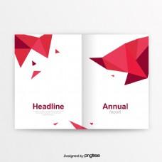 红色创意简洁的商业化书