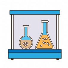 卡通风格化学实验瓶元素