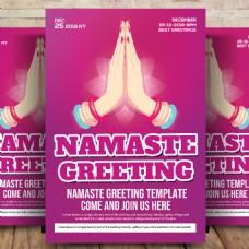 Namaste传单模板