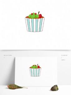 生日蛋糕鲜奶水果甜樱桃