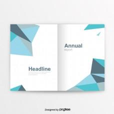 蓝色灰色创意简洁的商业化书
