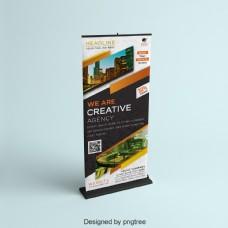 创意旅行社Standee Banner Design