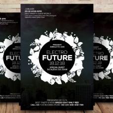 Electro Future Flyer Psd