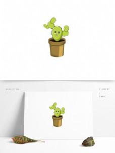 小清新手绘风仙人掌植物元素