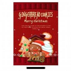 红色圣诞快乐的海报