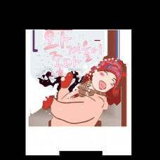 和美丽的女人像雪球雪球美丽的字体设计