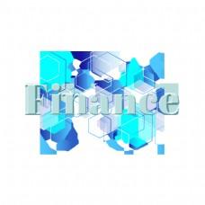 现代财务简单字体设计与几何